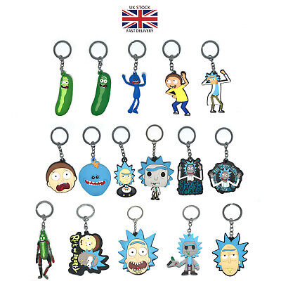 £4 • Buy Pickle Rick And Morty Rubber Keychain Double Sided Silicone Keyring UK