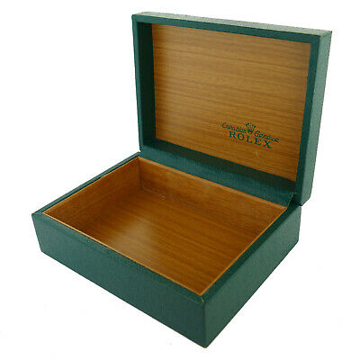 $ CDN327.39 • Buy Vintage Rare Rolex Green Coffin Box Wooden Interior Without Pillow 67.00.03