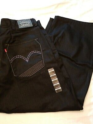 688958d3 LEVI STRAUSS&CO Mens 569 Jeans Loose Straight Fit 100% Cotton Black 44X32  NWT • 19.99
