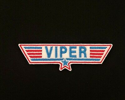 £3.60 • Buy Viper Red / Blue Top Gun Embroidered Patch Badge Iron On Or Sew On