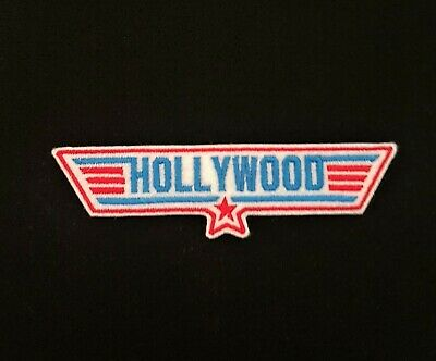 £3.60 • Buy Hollywood Red / Blue Top Gun Embroidered Patch, Badge Iron On Or Sew On