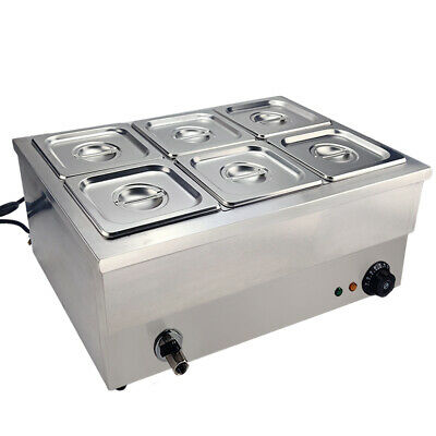 £155 • Buy Commercial Bain Marie 6*1/6 GN Pans Electric Food Warmer Catering Wet Well Heat