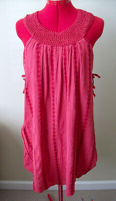 $ CDN30 • Buy Anthropologie FREE PEOPLE Women's Red Multi Layered Cotton Dress Size Small
