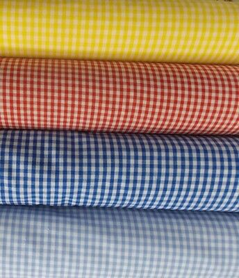 AU4.95 • Buy PATCHWORK CHECK NEW 1/16 1/8 1/2  SEW Gingham Fabric Material Dress Poly Cotton