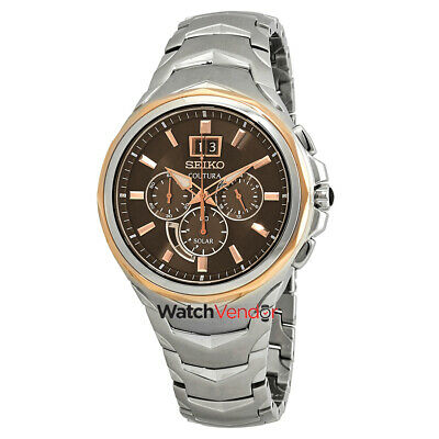 $ CDN377.99 • Buy Seiko Coutura Solar Powered Chronograph Brown Dial Men's Watch SSC628