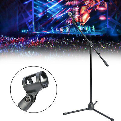 Adjustable Microphone Stand Boom Arm Bulk Package Studio Tripod Mic Clip Black • 12.29£