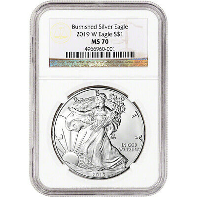 $87.10 • Buy 2019-W American Silver Eagle Burnished - NGC MS70