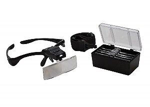 Headband Visor Magnifier With Light And Five Lenses • 17.93£