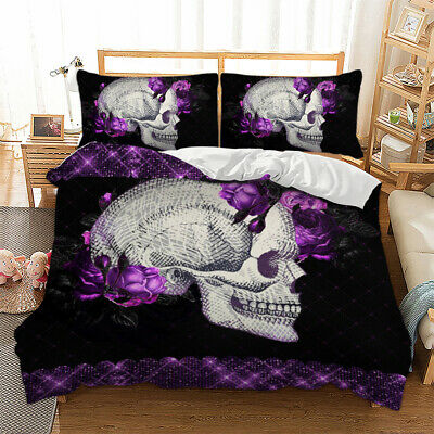 Skeleton Duvet Cover Bedding Set With Pillow Cases Single Double King Sizes Bed • 28.99£