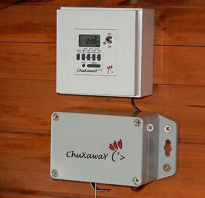 Chuxaway SCX Automatic Chicken Door Opener Pop Hole Opener - Kit With Timer • 79.95£