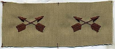 US Army Special Forces Officer Collar Insignia Pair DCU Desert Tan Patch • 3.13£