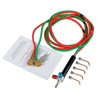 Micro-Gas Torch Mini Gas Little Torch Welding Soldering Kit With 5 Tips Wel X1Q6 • 11.99£