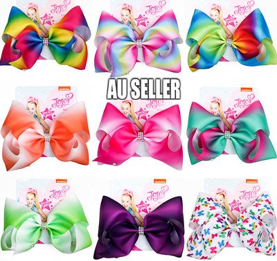 AU9.99 • Buy Rainbow Jojo Siwa Bows Girls Fashion Hair Accessories Party Gift 8 Styles 2020