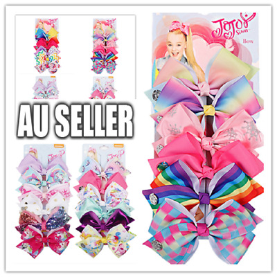 AU12.50 • Buy 6pcs  Signature Jojo Siwa Bows Girls Fashion Hair Accessories Party Gift