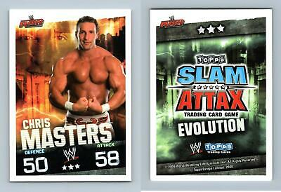 Chris Masters - WWE Slam Attax Evolution 2009 Topps TCG Card • 0.99£