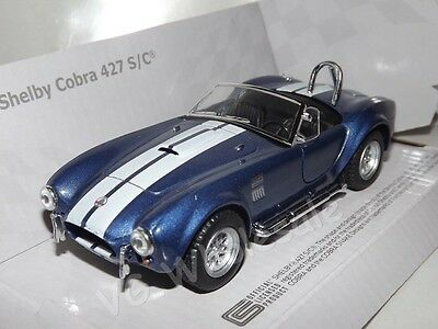 1965 Shelby Cobra 427 S/C Blue Die Cast Metal Model Car 5   New In Box • 11.99£