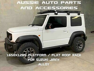 AU499 • Buy Platform Flat Alloy Roof Rack 1650mm For Suzuki Jimny 2019 With Gutter Brackets