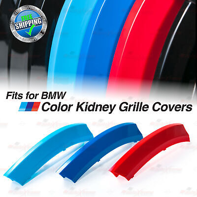 $18.80 • Buy M-Power Kidney Gril Grille Tri-Color Covers Insert Clips Fit BMW ALL Series HERE