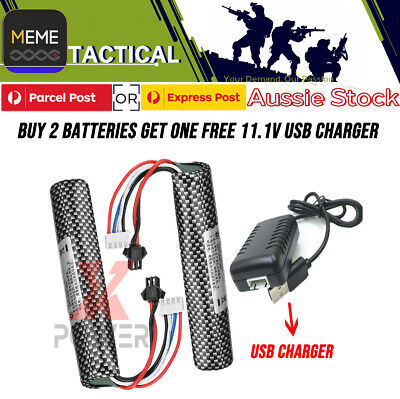 AU20.48 • Buy 11.1v 2000mAH 30C Lipo Battery Charger SCAR M4 G36 M4A1 UPGRADE GEL BALL BLASTER