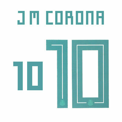 $27.61 • Buy J M Corona 10 - 18/19 Mexico Away Name And Number Set = Adult Size