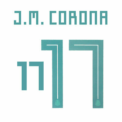$27.61 • Buy J.m. Corona 17 - 18/19 Mexico Away Name And Number Set = Adult Size