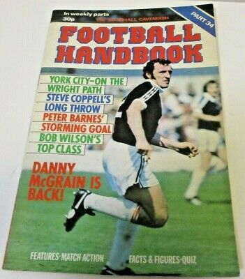 Football Handbook 'Marshall Cavendish' Issue Part 34 • 1.50£