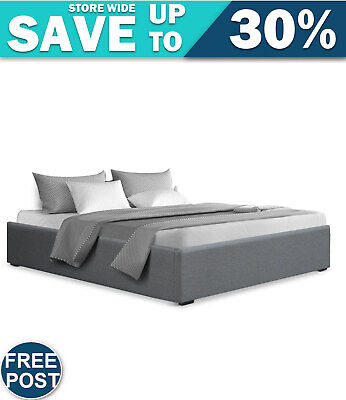 AU245.44 • Buy Artiss Double Full Size Gas Lift Bed Frame Base With Storage Platform Fabric