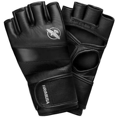 £59.99 • Buy Hayabusa T3 Leather MMA Gloves 4oz Fight Sparring Grappling Training Black