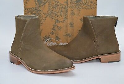 New $148 Free People Century Flat Boot Taupe Brown Leather Boots Vintage Ankle  • 86.99£