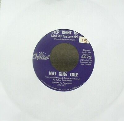 £1.41 • Buy NAT KING COLE-Step Right Up…/Magic Moment-1950's-60's Capitol 4672 45rpm NM