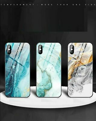 AU13.45 • Buy IPhone 11 XS Max XR 8 7 Plus Case Shockproof Tough GLASS Marble Cover For Apple