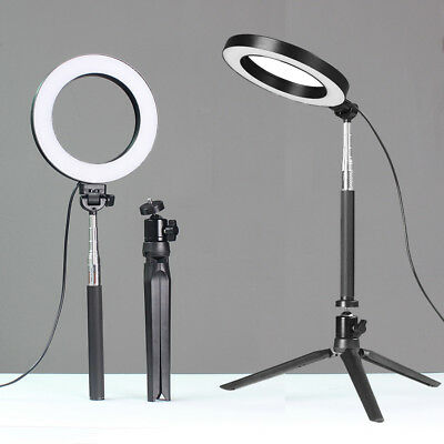 AU20.58 • Buy 6  5500K Dimmable LED SMD Ring Light Diffuser Mirror Stand Make Up Studio AK
