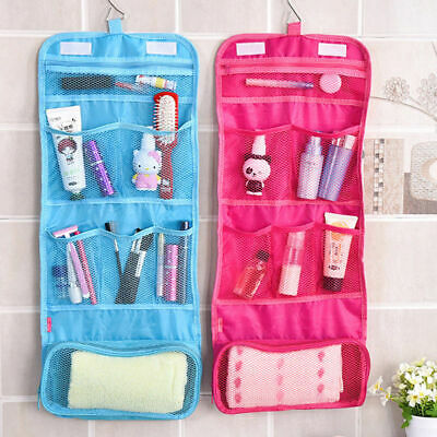 AU8.59 • Buy Travel Cosmetic Storage MakeUp Bag Folding Toiletry Wash Organizer Hanging Pouch