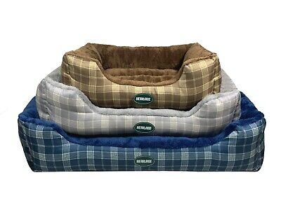 Heritage Deluxe Soft Washable Dog Pet Bed Warm Basket Cushion With Fleece Lining • 20.95£