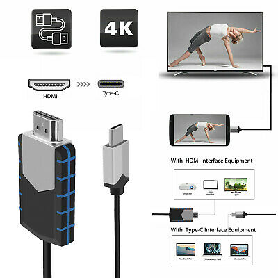$14.98 • Buy USB-C Type C To HDMI HD TV Cable Adapter For Android LG Samsung MacBook Phone US