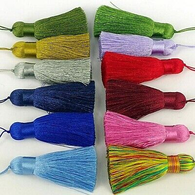 Silky Key Tassels, Cushions, Blinds, Curtains, Select Quantity , 19 Colours • 4.95£