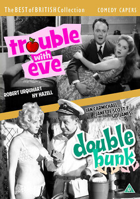 £9.89 • Buy Comedy Capers: Trouble With Eve/Double Bunk DVD (2019) Ian Carmichael, Searle