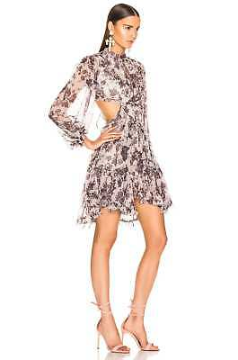$375 • Buy New With Tag Zimmermann Juno Floating Open Back Silk Dress $995