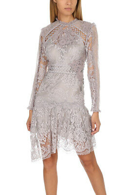 $475 • Buy NWT $1,950 AUTH ZIMMERMANN Stranded Applique Lace Dress In Lilac