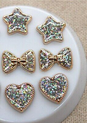 Glitter Decorations For Craft,Card-making & Decoration Various Sizes & Shapes • 2.98£
