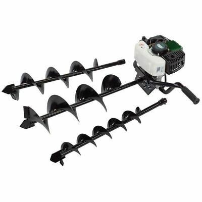 Draper 52cc Fence Post Earth Auger With 100 / 150 / 200mm Drill Bits 84705 • 248£