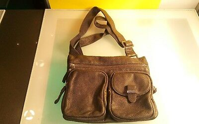 $ CDN29 • Buy Danier Grey Leather Purse Bag Handbag Women's Good Shape