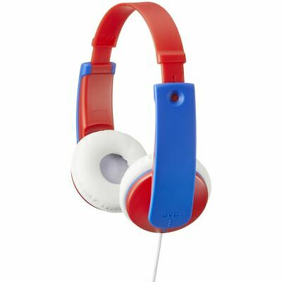 Jvc Tiny Phones Kids Stereo Headphones With Volume Limiter Blue/red (hakd7r) • 18.99£