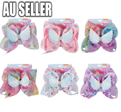 AU11.99 • Buy Rainbow Unicorn Wings Jojo Siwa Bows Girls Fashion Hair Accessories Party Gift