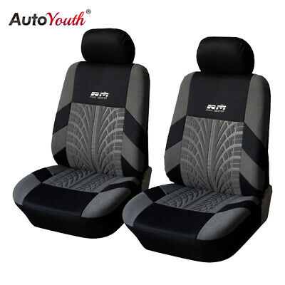 $15.99 • Buy AUTOYOUTH Front Car Seat Cover Car Accessories Decoration Black And Gray