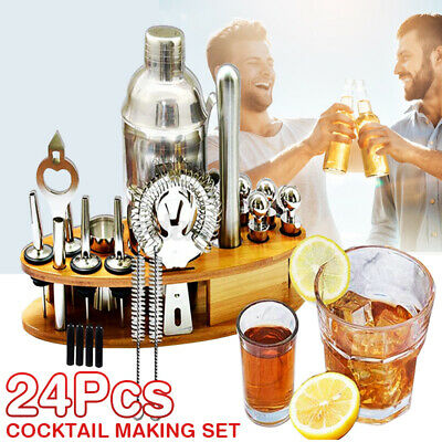 22pcs Cocktail Set Boston Shaker Making Kit Gift  Stainless Mixer Making  Bar UK • 20.99£