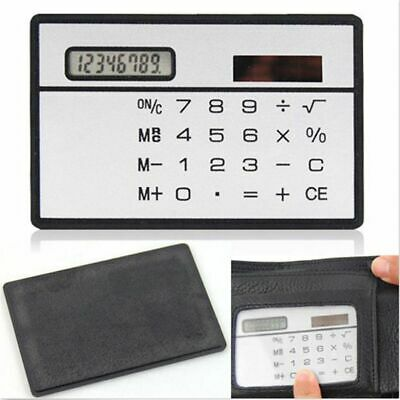 Mini Credit Cards Solar Power Pocket Calculator Novelty Small Travel Compact • 1.57£