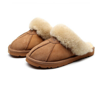 AU28.99 • Buy Best Gift Choice UGG Slippers- 100% Australian Sheepskin Unisex Slippers
