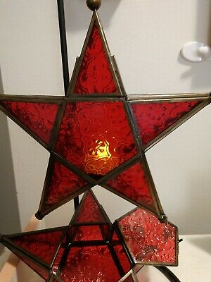 Hanging Star Tea Light Holder Red • 20$