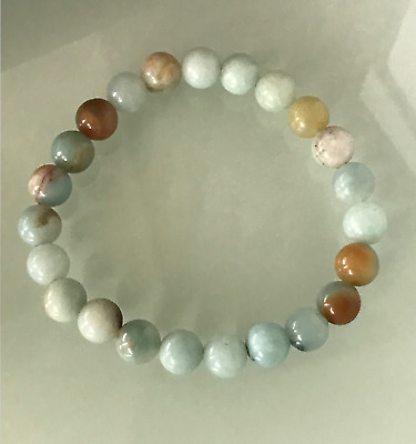 £4.99 • Buy UK Protection Anxiety Stress Relief Amazonite Healing Crystal Bead Bracelet Calm